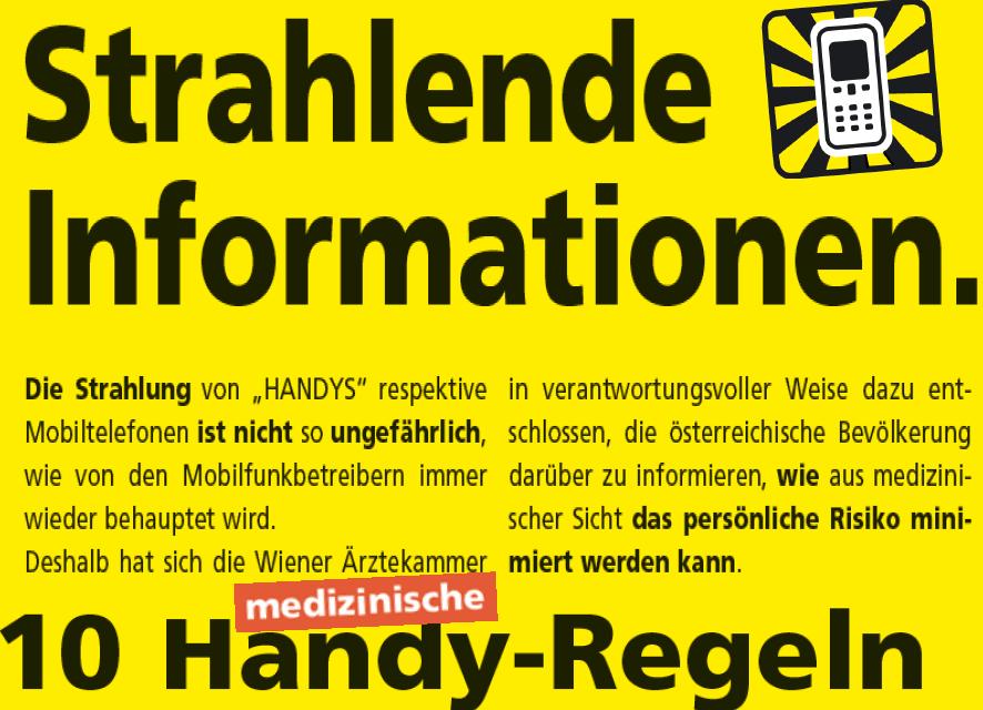 HANDYS – Strahlende Informationen